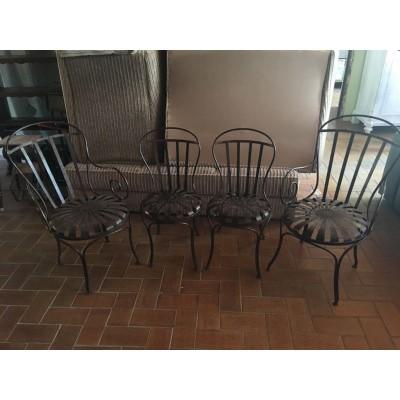 Antike Gartenstühle aus Gusseisen - Frankreich
