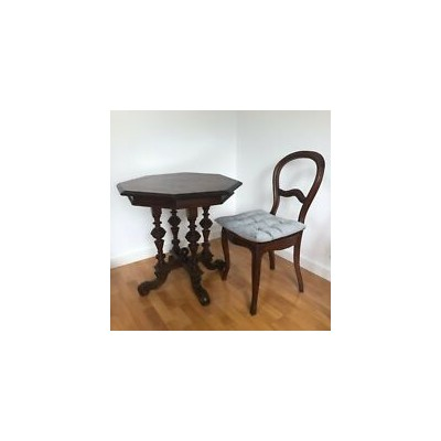 Nussbaumtisch Tisch Louis Philippe Stil