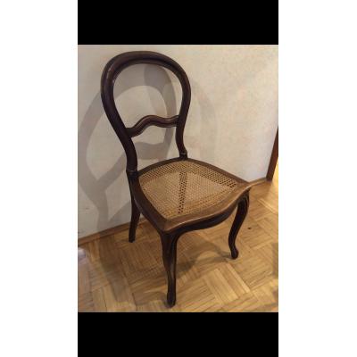 Geflochtener Stuhl Gründerzeit