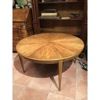 Mid Century Couchtisch Rund Holz 60er Jahre