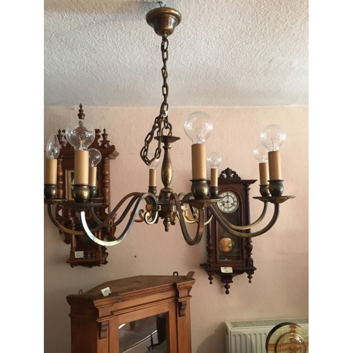 Deckenlampe - Messinglampe 30er/40er Jahre